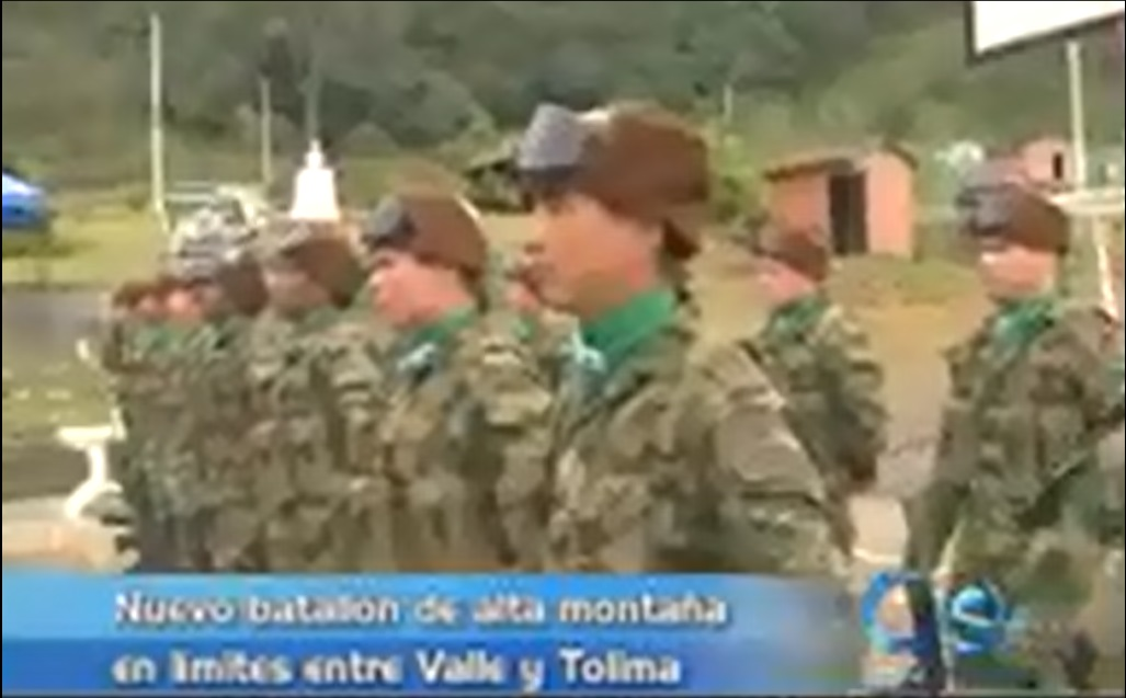 Nuevo batallón de alta montaña en límites entre Valle y Tolima