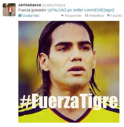 Compañeros de equipo apoyan a Falcao tras noticia de lesión
