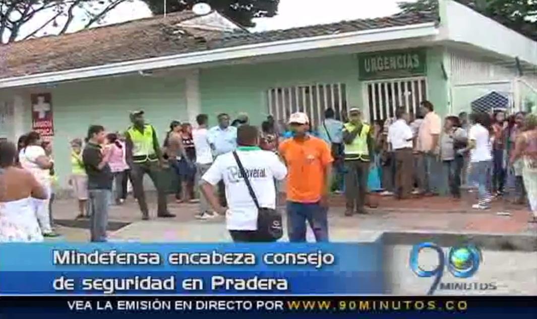 Consejo de seguridad en Pradera fue liderado por MinDefensa