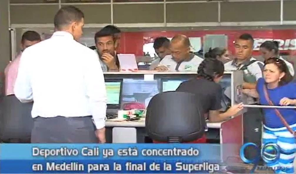Deportivo Cali viajó a Medellín para el partido de vuelta de la Superliga