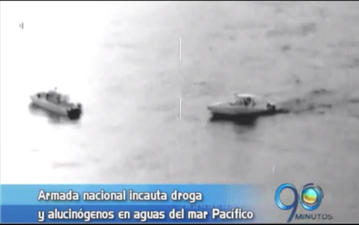 Cae cargamento de droga en el Pacífico colombiano