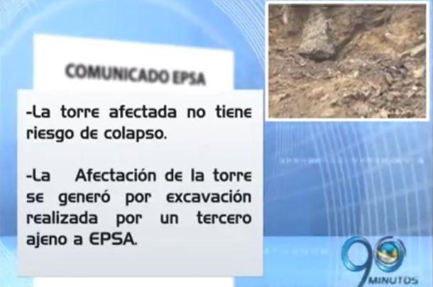 EPSA asegura a los habitantes del Cortijo que la torre no colapsará