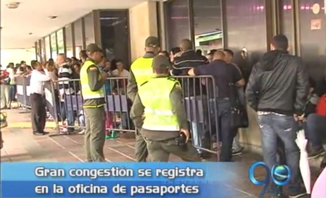 Congestión en la Gobernación para sacar el pasaporte