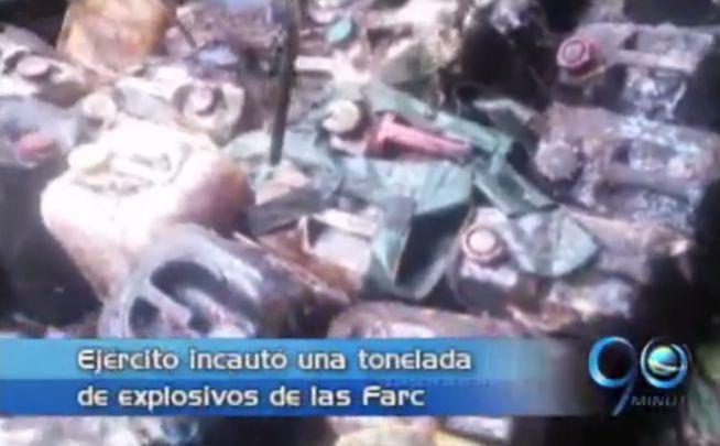 Ejército incauta una tonelada de explosivos en Dagua