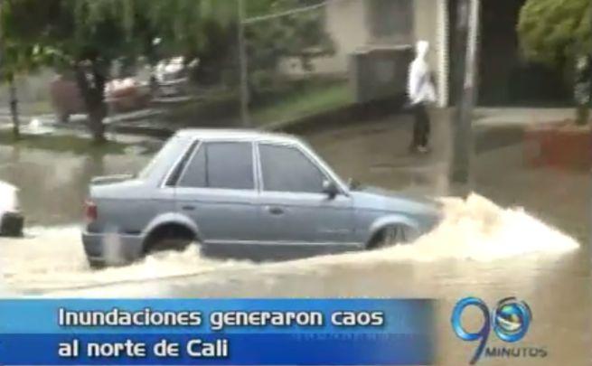 Inundaciones generaron caos al norte de Cali