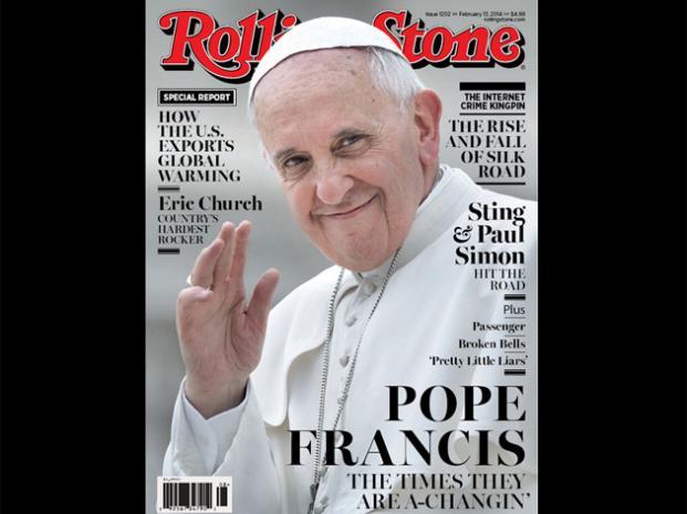 Papa Francisco en la nueva portada de la revista Rolling Stone