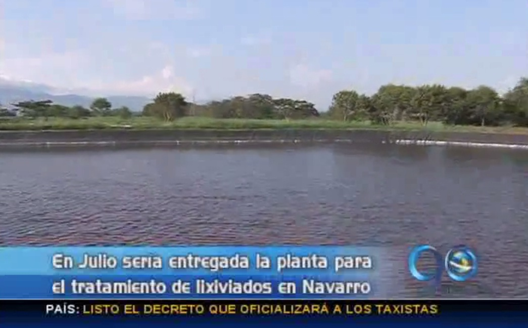 Planta de lixiviados de Navarro será entregada en Julio
