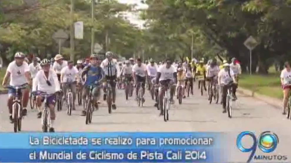La Bicicletada reunió a más de dos mil caleños por el Mundial de Ciclismo