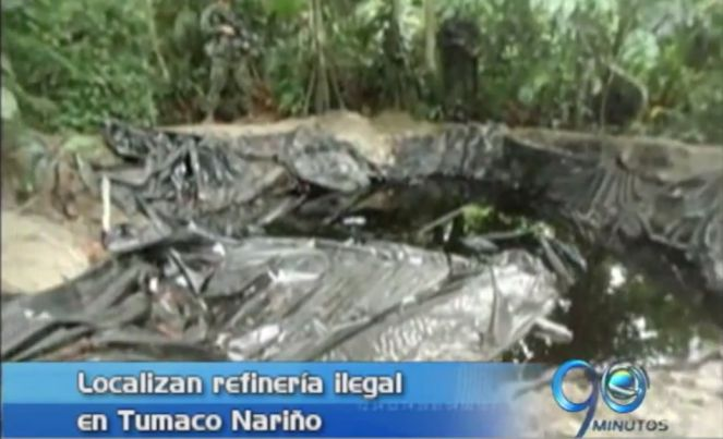 Armada destruye refinería ilegal en Tumaco, Nariño