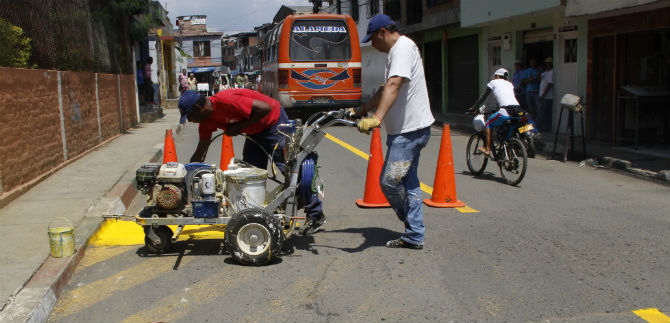 Secretaría de Transito demarcará vías en comunas de Cali