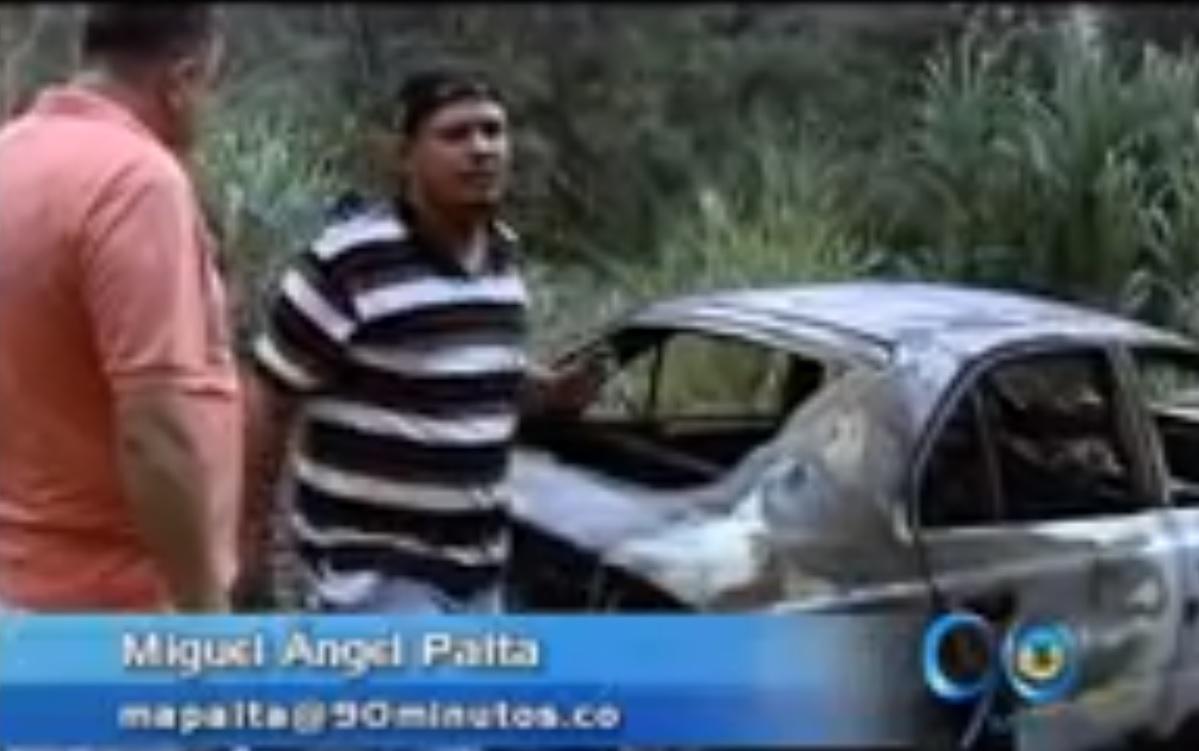 Asaltante atracan a taxista e incineran el vehículo