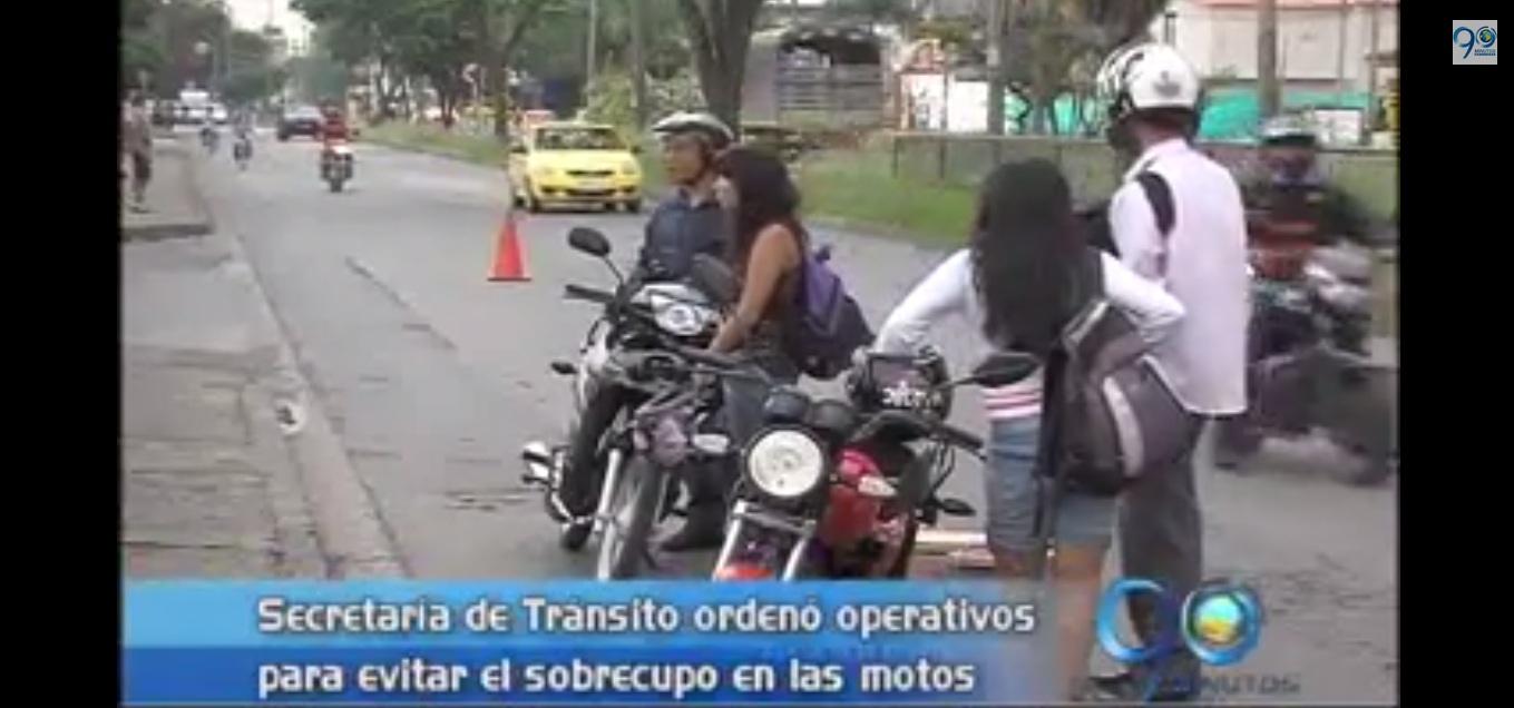Tránsito adelantó operativos contra el trasporte de niños en moto