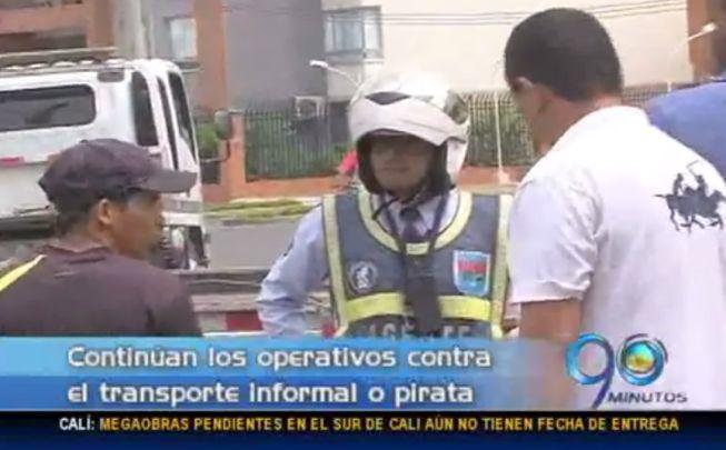 Intensifican operativos contra transporte informal varios puntos de Cali