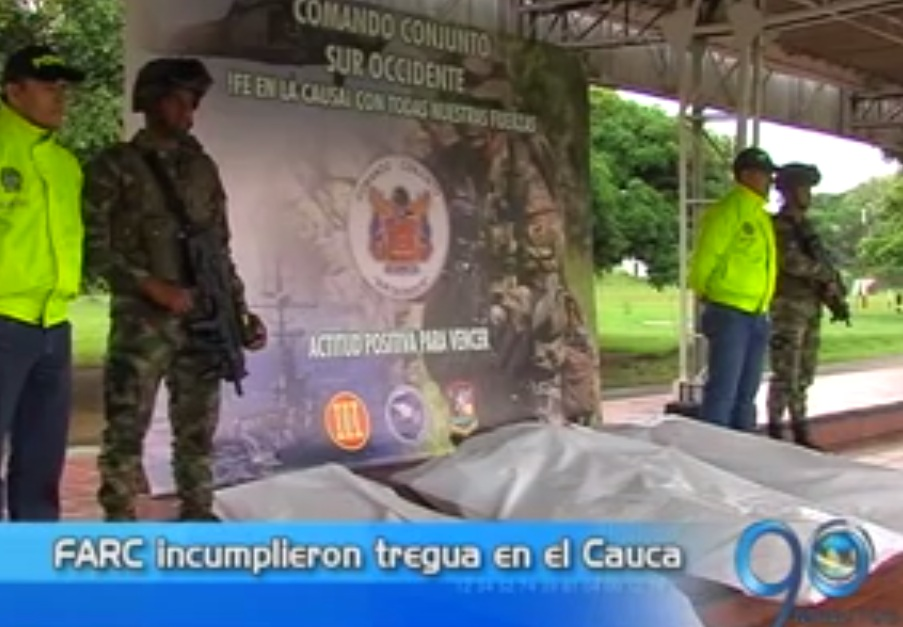 Autoridades del Cauca se pronuncian ante fin de tregua de las Farc