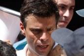 El opositor venezolano, Leopoldo López se entregó a la Guardia Nacional