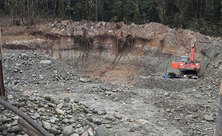 Operativo contra minería ilegal deja dos personas capturadas