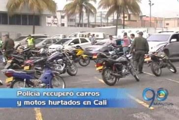 Policía recuperó vehículos robados en Cali