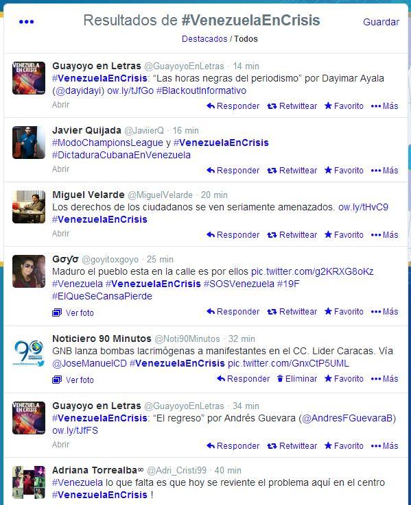 Venezolanos se expresan por medio de las redes sociales