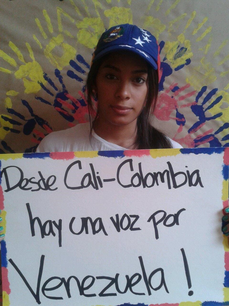 Estudiantes venezolanos se unen a las protestas desde Cali