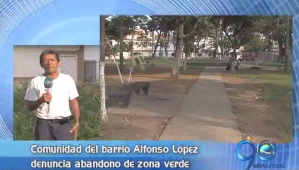 Denuncian abandono de zonas verdes en el barrio Alfonso López
