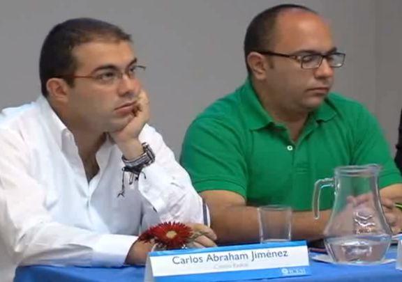 Candidatos a la Cámara Carlos Abraham Jiménez y Eduardo Llanos presentan propuestas