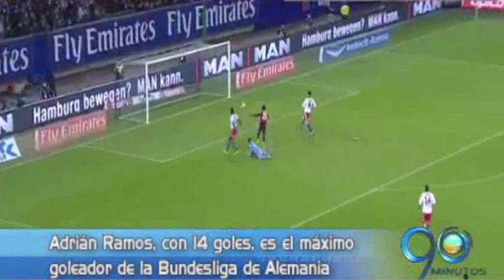 Adrián Ramos comanda la tabla de goleadores en la Bundesliga