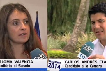 Paloma Valencia y Carlos Andrés Clavijo presentan sus propuestas