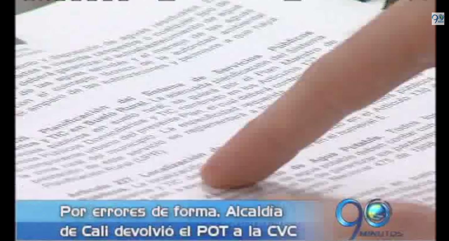 Alcaldía de Cali devuelve POT a la CVC por errores de forma