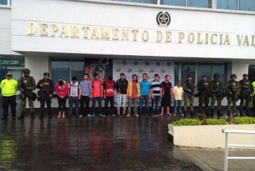 Autoridades capturan once presuntos integrantes de las Farc
