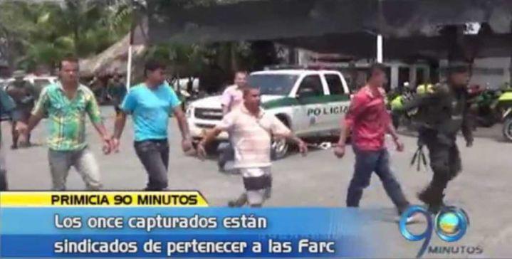 Capturados once presuntos miembro de las Farc