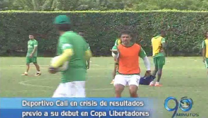 Deportivo Cali prepara su debut en Copa Libertadores en medio de la crisis