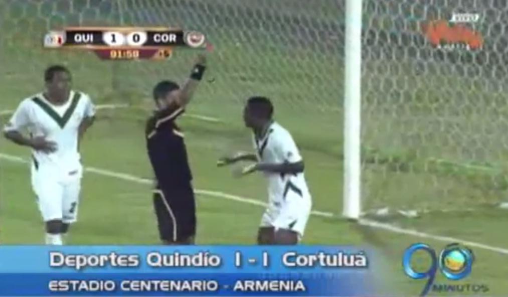 Cortuluá empató 1-1 con Deportes Quindío en Armenia