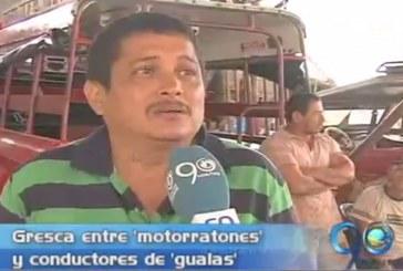 Enfrentamientos entre 'mototaxistas' y conductores de 'gualas'