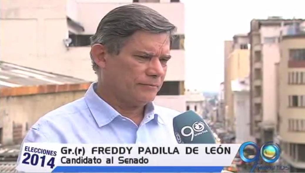 El general en retiro Freddy Padilla dio a conocer sus propuestas