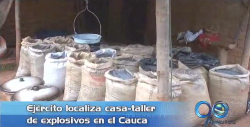 Ejército localiza casa con explosivos en el norte del Cauca