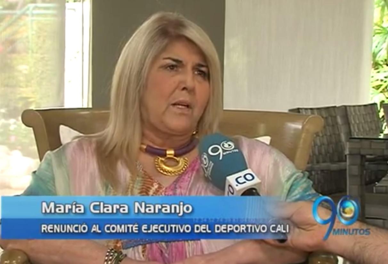 María Clara Naranjo pidió la cabeza de  Álvaro Martínez para volver al Cali