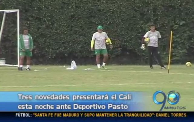 Cali presentará tres ausencias ante Deportivo Pasto