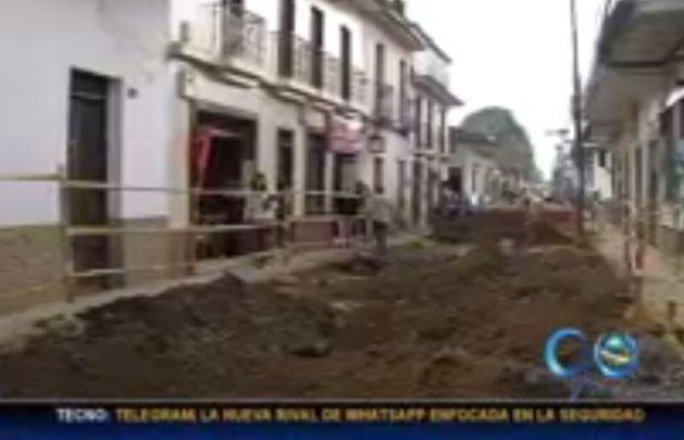 Obras en centro de Popayán generan caos en movilidad