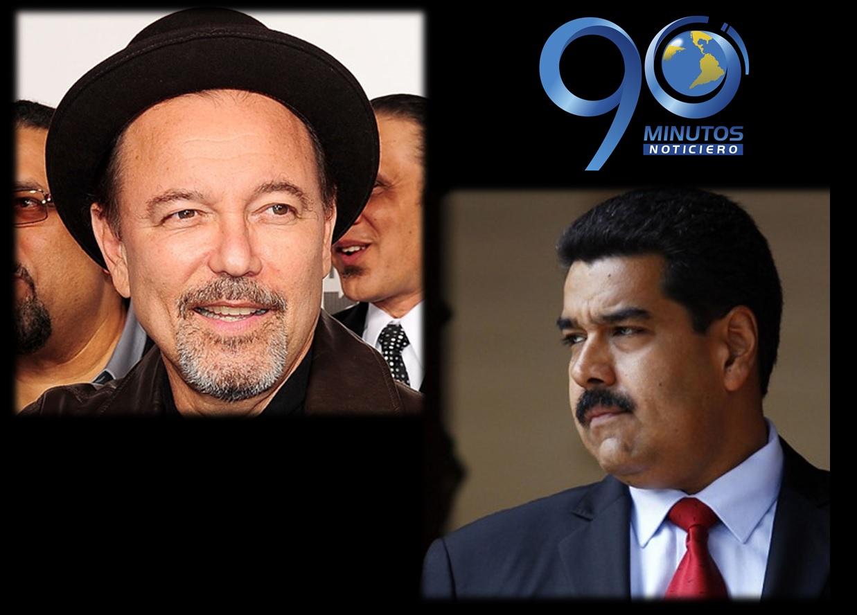 Rubén Blades escribe sobre Venezuela y recibe respuesta de Maduro