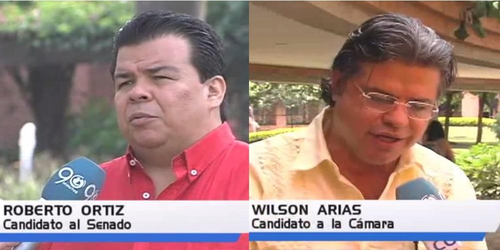 Roberto Ortiz al Senado y Wilson Arias a la Cámara presentaron sus propuestas