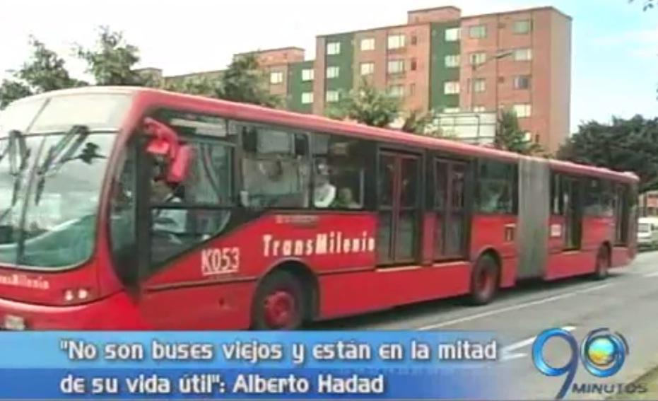 Secretario de Tránsito aclara el estado de los buses de Transmilenio