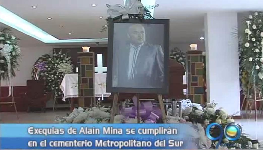 El cuerpo de Alaín Mina fue enterrado en el cementerio Metropolitano