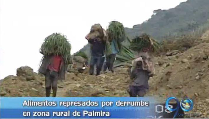 Derrumbe tiene represada la producción agrícola de la zona rural de Palmira