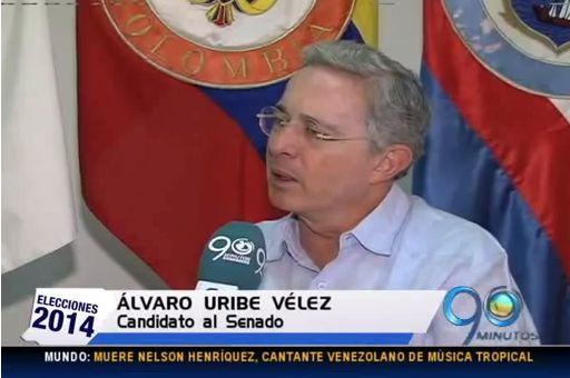 Equivocación de Uribe en entrevista con 90 Minutos se vuelve viral