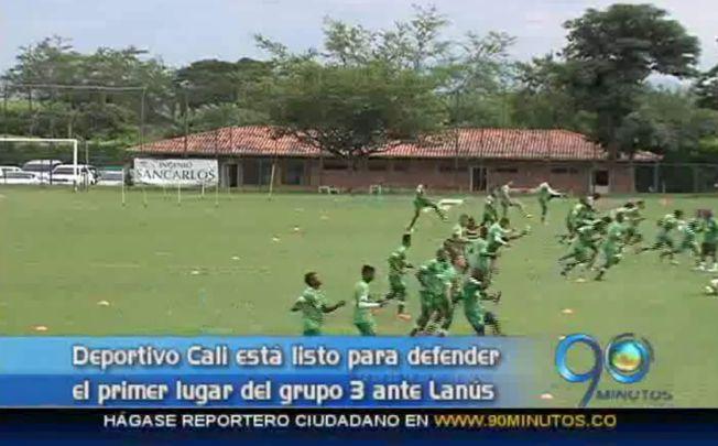 Deportivo Cali se prepara para el encuentro con Lanús