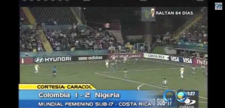 Colombia perdió con Nigeria en el Mundial Femenino Sub 17 de Costa Rica