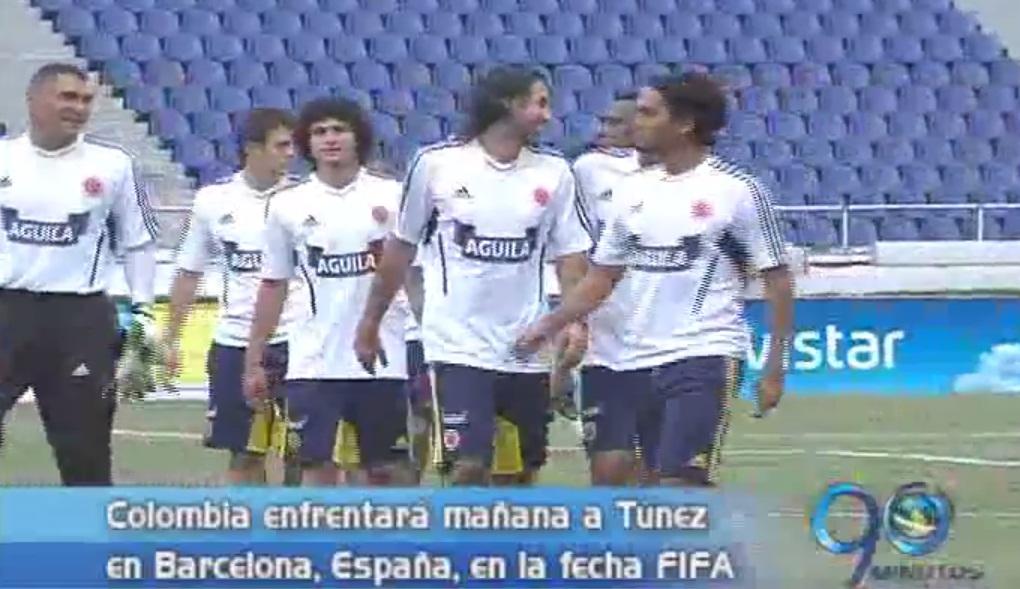 Colombia prepara su próximo partido ante Túnez en Barcelona