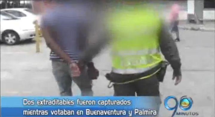 Dos extraditables fueron capturados mientras votaban