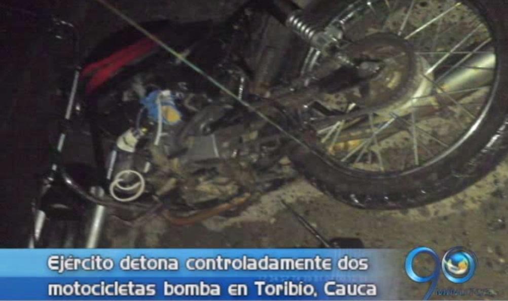 Ejército desactivó motocicletas bomba en Toribío