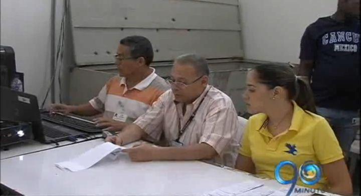 Se adelantan los escrutinios en el coliseo María Isabel Urrutia